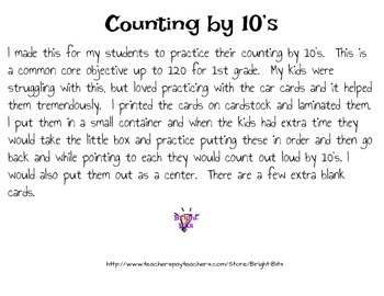 Count by 10's