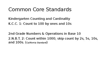 Count by 10s 5s 2s Skip Counting PowerPoint Slide Show