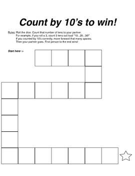Count by 10's Gameboard