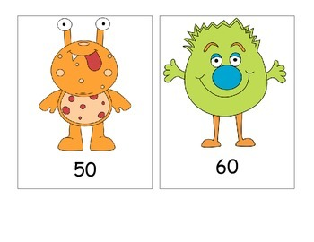 Count by 10's! Monster numbers
