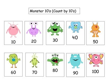 Count by 10's! Small Monster numbers