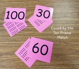 Count by 10s- Ten Frame Match/Go Fish