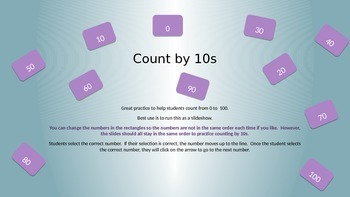Count by 10s to 100