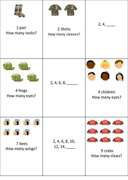 Count by 2 Math Centers, Games and Worksheets BUNDLE