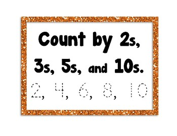 Count by 2s, 3s, 5s, & 10s, Trace Numbers, Notice Patterns, Number Chart