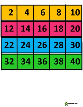 Autism Resource for Skip Counting