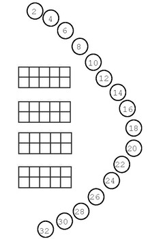 Count by 2s with tens frames