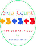 Count by 3 Interactive Skip Counting Video for Multiplication