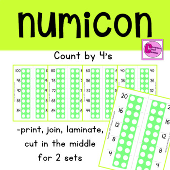 Count by 4's Number Line
