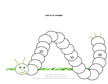 Count by 5's Caterpillar