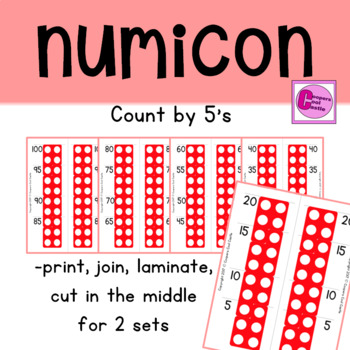 Count by 5's Number Line