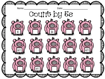 Count by 5 with Piggy Nickels