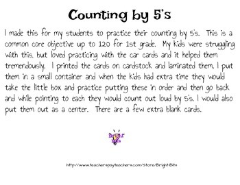 Count by 5's