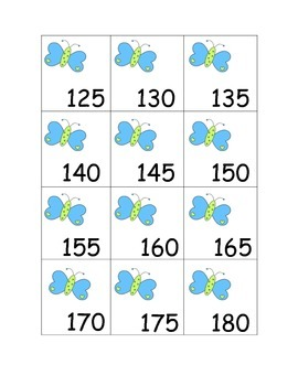 Count by 5s- Butterflies to 200