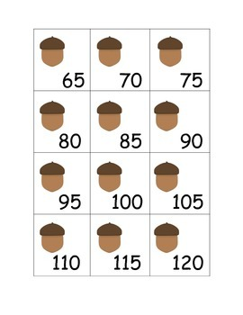 Count by 5s Cards