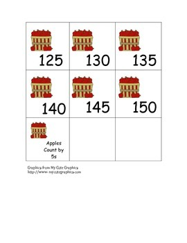 Count by 5s Cards- Apples