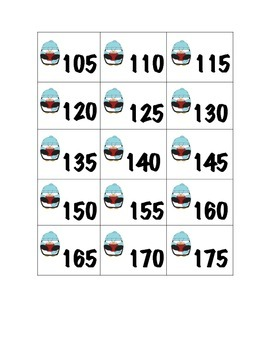 Count by 5s Cards- Penguins from 105