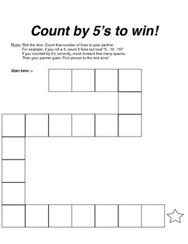 Count by 5's Gameboard