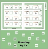 Count by 5's - Nickel (coin) Counting to 80 File Folder Ga