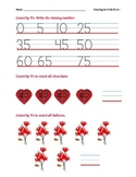 Count by 5's Worksheet Common Core Aligned (Valentine-themed)