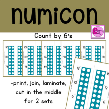 Count by 6's Number Line