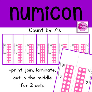 Count by 7's Number Line
