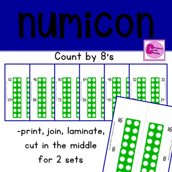Count by 8's Number Line