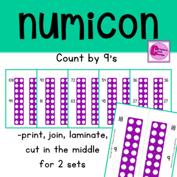 Count by 9's Number Line