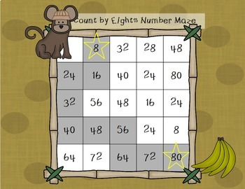 Count by Eights Number Mazes