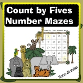 Count by Fives Number Mazes