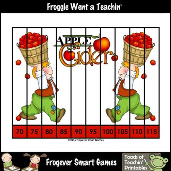 """Count by Fives--Number Sequencing Puzzles to 120 """"Apple Cider Kids"""""""