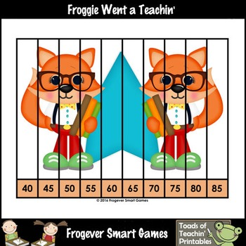 """Count by Fives--Number Sequencing Puzzles to 120 """"Super Cool"""""""