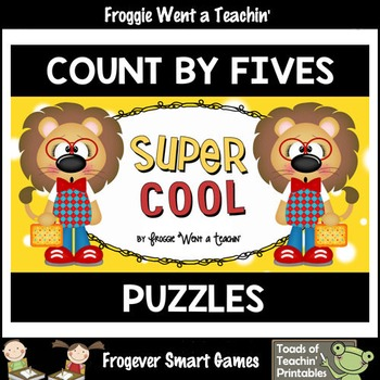 "Count by Fives--Number Sequencing Puzzles to 120 ""Super Cool"""