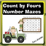 Count by Four's Number Mazes