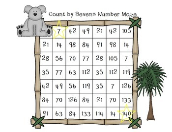 Count by Sevens Number Mazes
