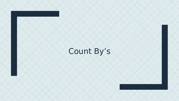 Count by Slides for Multiplication