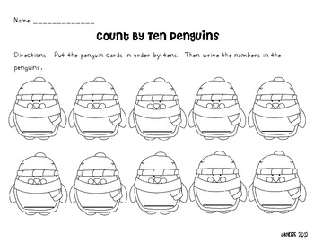 Count by Tens Penguin Math Center