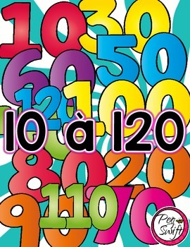 Count by Tens Posters and Printables - FRENCH