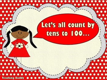 Count by Tens (PowerPoint, worksheet and printables)