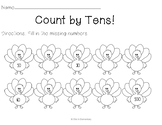 Count by Tens Turkeys