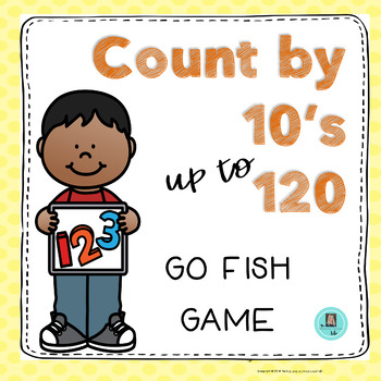 Count by Tens to 120 GO FISH Game