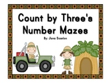Count by Three's Number Mazes