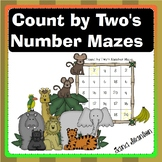 Count by Two's Number Mazes