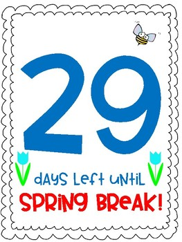 Count down to Spring Break!