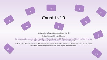 Count from 0-10