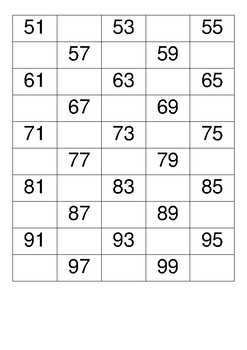 Count in 2s from 50 to 100