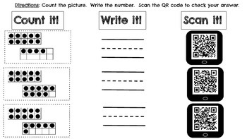 Count it, Write it, Scan it! Teen Numbers