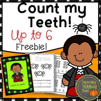 Halloween counting and printing freebie!  Count My Teeth!