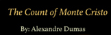 Count of Monte Cristo Count Notes