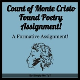 Count of Monte Cristo Found Poetry Quiz Activity Sheet
